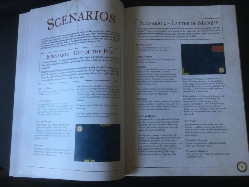 The Scenarios section