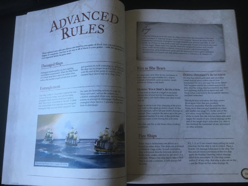 Advanced rules - Fire as she bears!