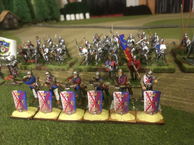 Crossbowmen - you cna see that I've repainted the whites.
