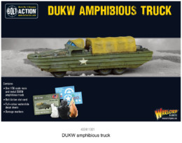 DUKW AMPHIBIOUS TRUCK Bolt Action Warlord Games 28mm