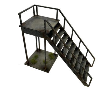 Porta Cabin Stairs (28mm) Sarissa Precision Q043