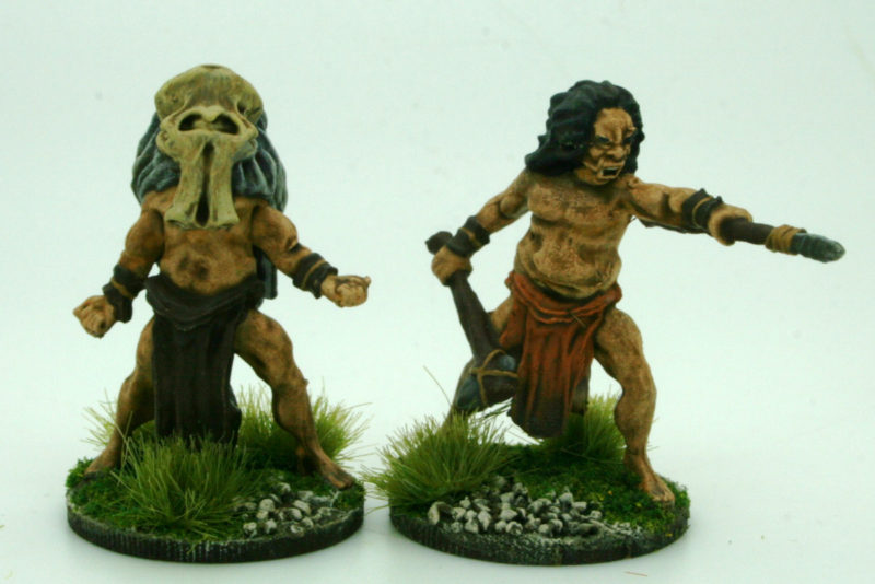 Caveman chief and Shaman