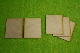 80mm x 65mm LASER CUT MDF 2mm Wooden Bases for Wargames