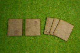 60mm x 50mm LASER CUT MDF 2mm Wooden Bases for Wargames