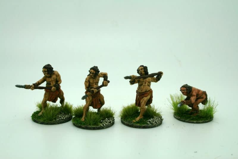 Cavemen attacking