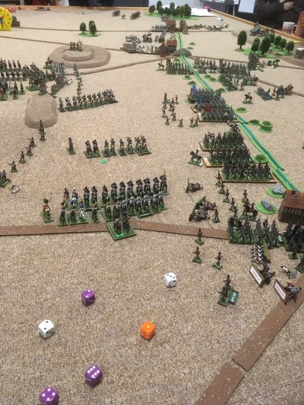Prussians win the battle on the Frencg right flank - the French decide to pull back conceding the battle!