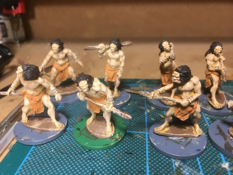 Hair and loin cloth painted