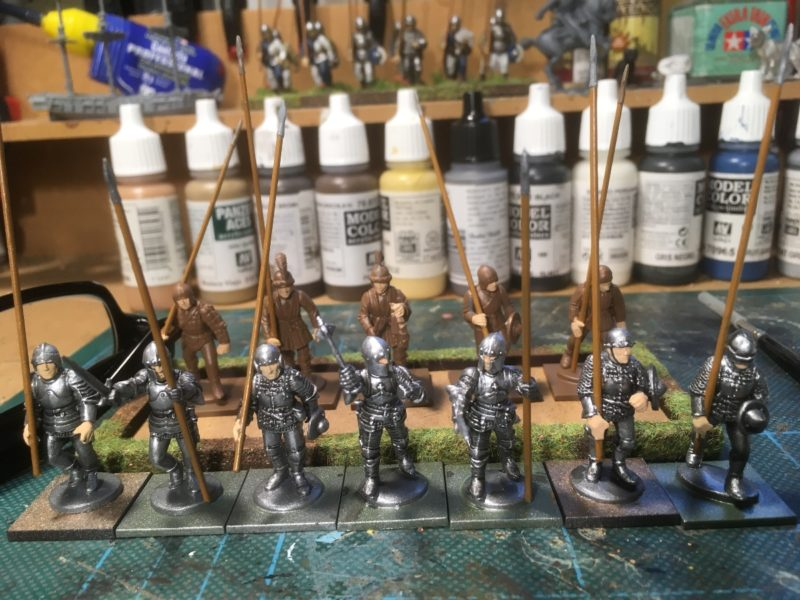 Pikemen on the painting board