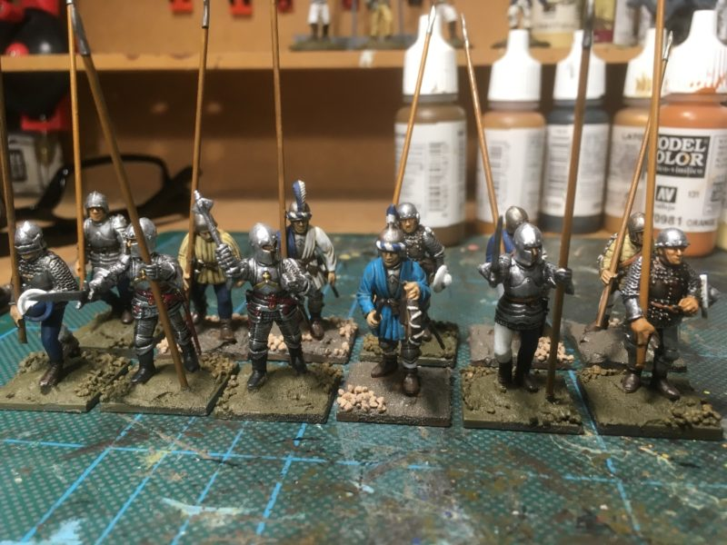 Pikemen in the process of being based