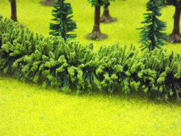 Jordan LARGE GREEN HEDGE HO/OO or Wargames Scenery 50 cms long Nr.13B
