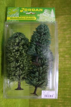 Jordan Pack of 3 LARGE GREEN TREES Wargames Scenery HO/OO Nr.5c 59540
