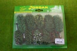Jordan Pack of 10 GREEN TREES Wargames Scenery HO/OO Nr.7A