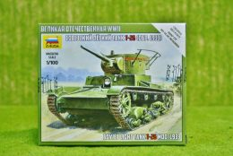 Soviet Light Tank T26 1:100 Scale Zvezda 6246