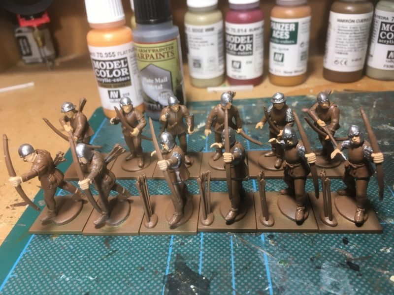 The next unit of archers on the workbench