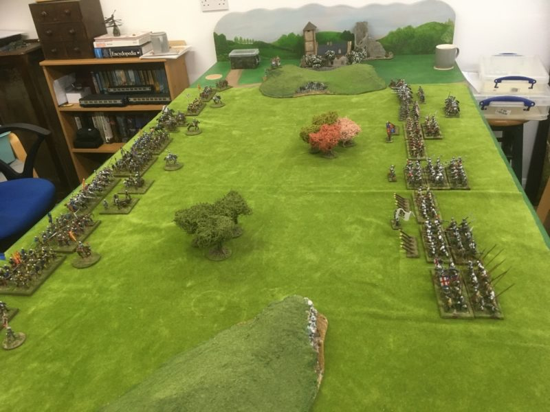 Two armies on display - not all of these units will fight in the battle!