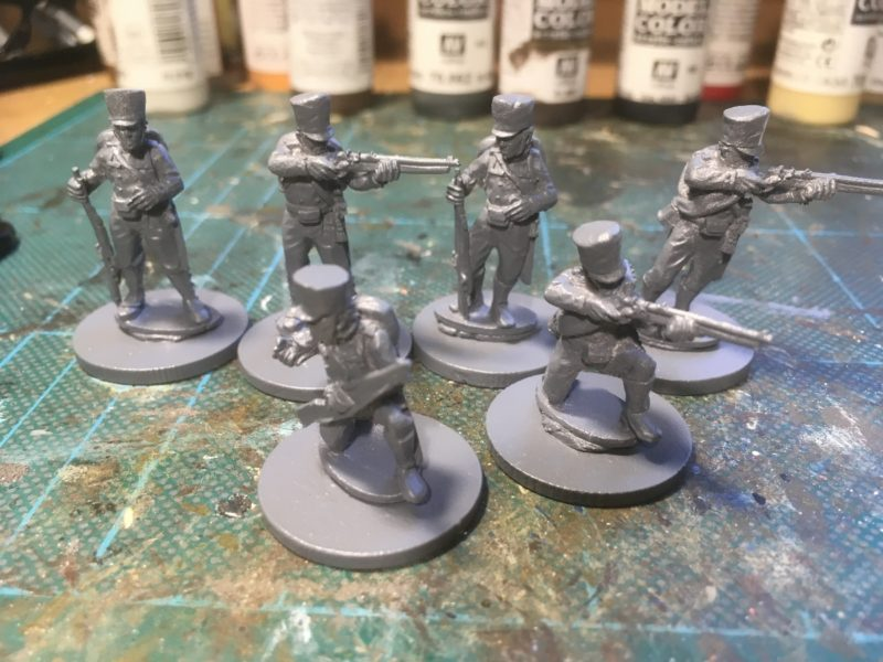 Prussiajn Jaegers - primed and ready for painting