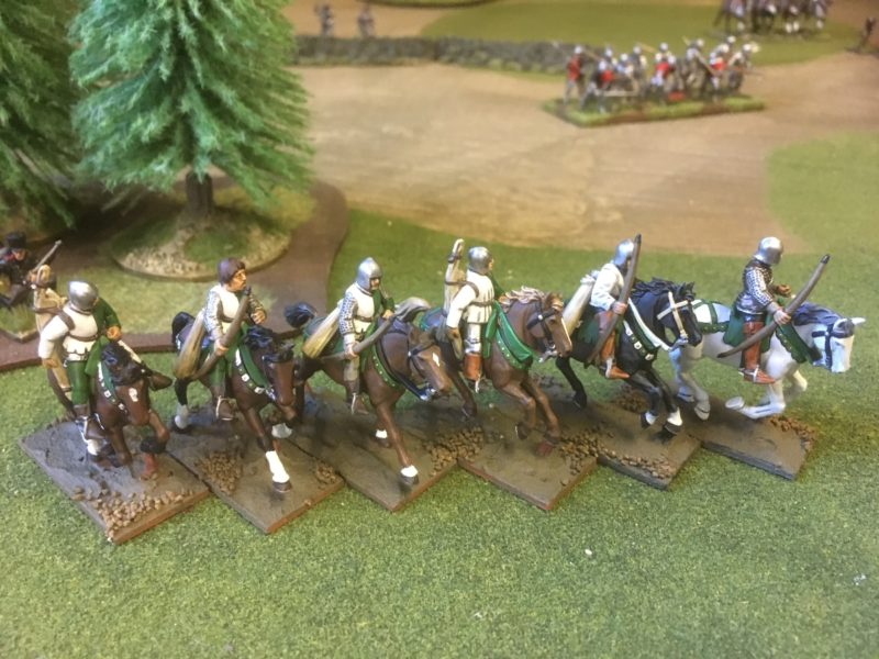 Finished figures on their horses.