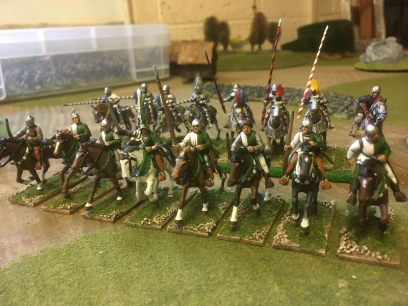 The completed unit of light Cavalry