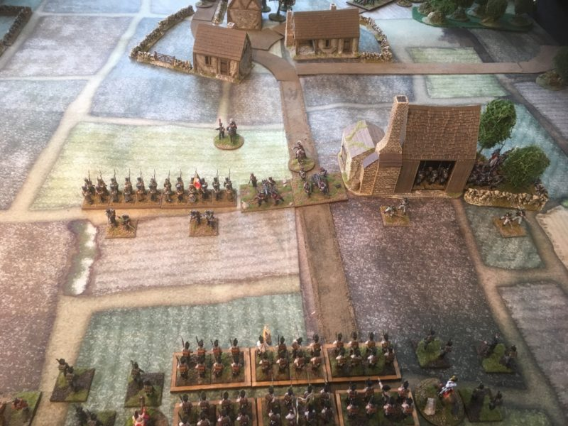 First Scenario. French defend the Tile factory