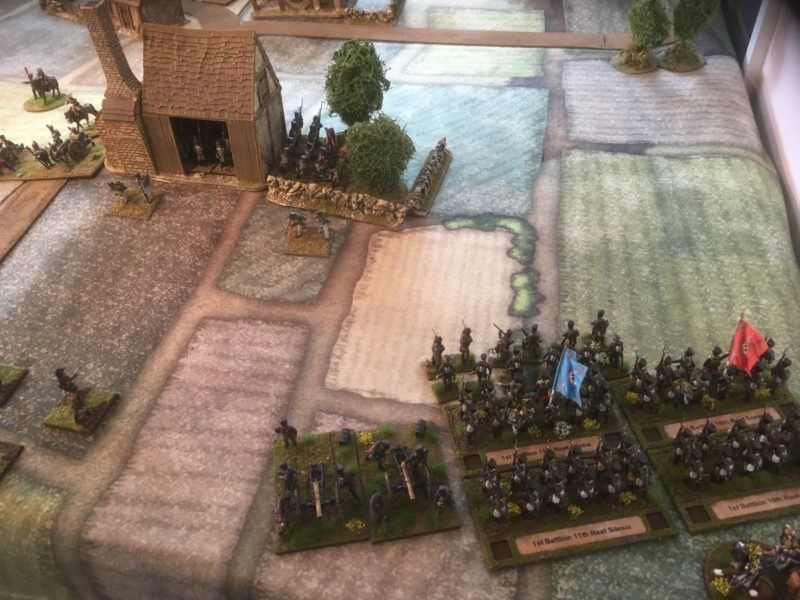 The Prussians push onto the French Right.