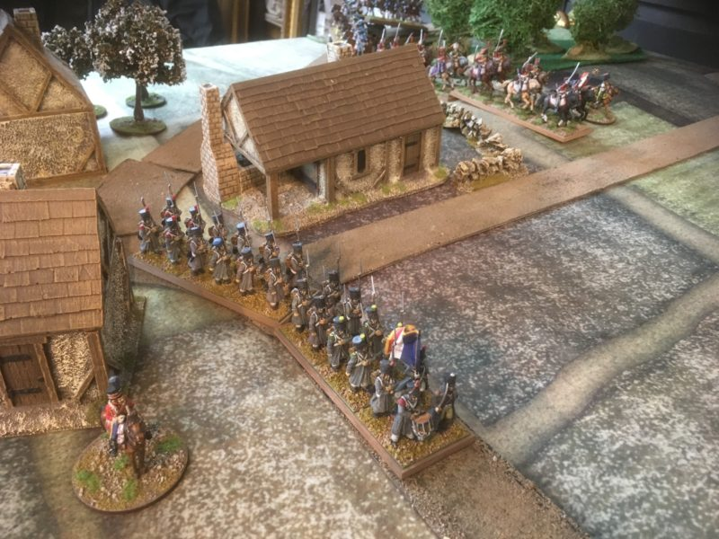 The French reinforcements arrive and move to the front.