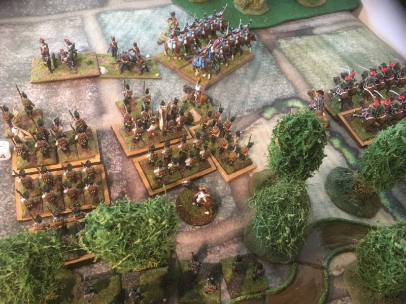 An aggressive move by the French cavalry holds the Austrians