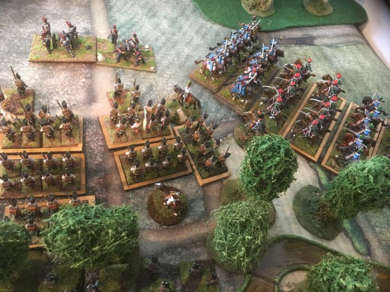 The French Cavalry charge home and are victorious! Both Austrian Cavalry regiments break as well as the supporting Austrian Infantry!