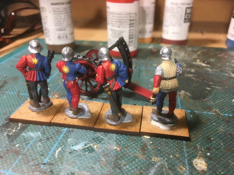 Another gun crew nearly finished, ready to join the York army.