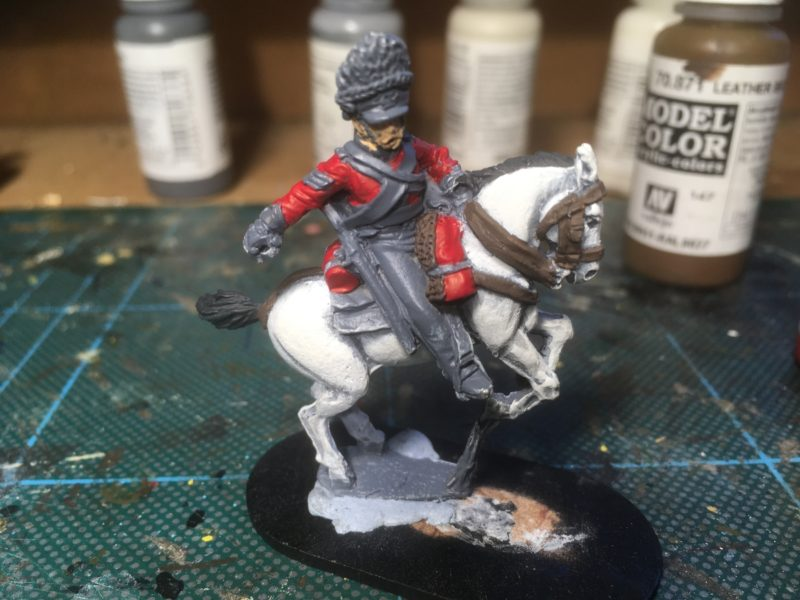 Sgt. Ewart in progress - primed and blocking started