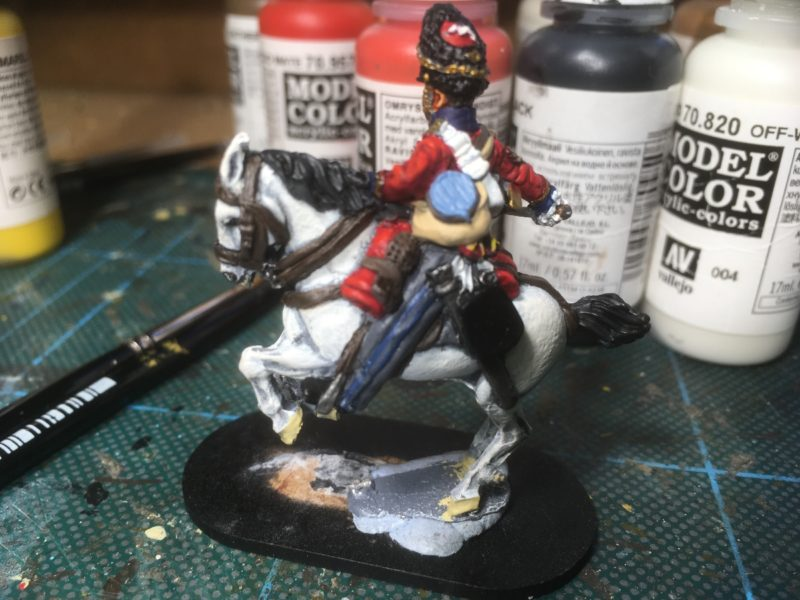 Sgt Ewart, nearly complete - I dont like the stripe on his trousers!