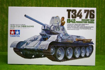 Tamiya T34/76 1942 RUSSIAN ARMY TANK  1/35 Scale 35049