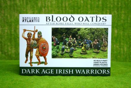 DARK AGE IRISH WARRIORS Wargames Atlantic Plastic Boxed Set