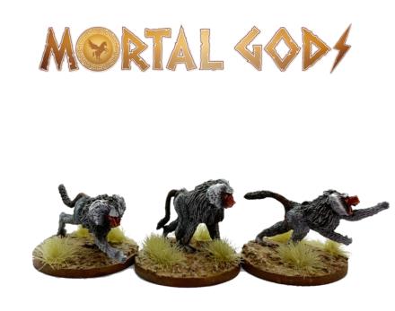 MORTAL GODS Kushite Baboon Pack MG063 (metal) 28mm