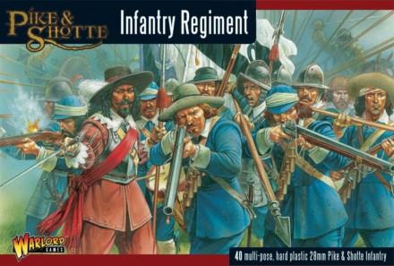Infantry Regiment plastic boxed set Pike & Shotte 28mm