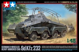 SD.KFZ.232 GERMAN 8 Wheeled Armoured Heavy Car Tamiya 1/48 Scale Kit 32574