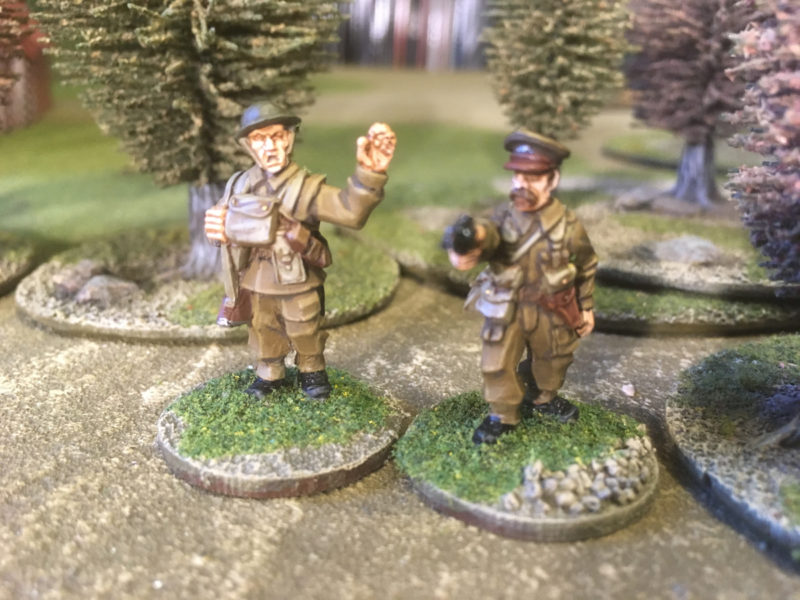 Lieutenant and Sergeant command the platoon.