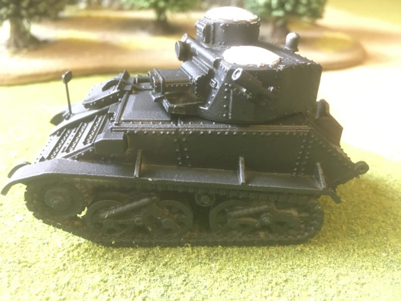 Model primed in Vallejo Black primer.