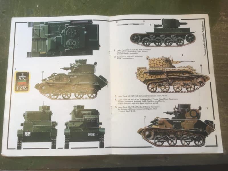 Colour Schemes for Vickers in Profile magazine