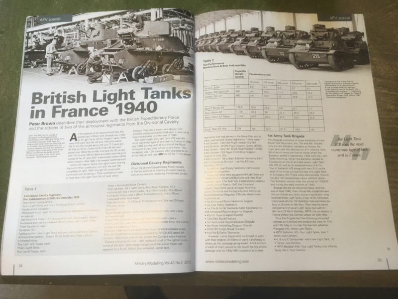 Article from Military Modelling collectors edition #16