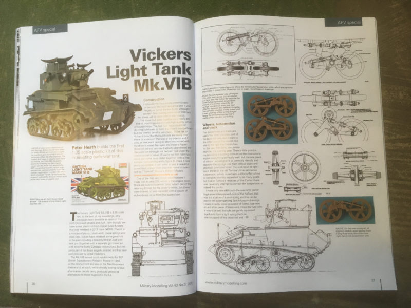 Modelling the Vickers VI in 1/35th scale from the same magazine