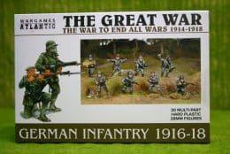 WW1 GERMAN INFANTRY (1916 -1918) Wargames Atlantic Plastic Boxed Set