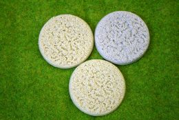 60mm round Resin Bases BONES IN THE SAND pack of 3 for Fantasy of Sci-Fi RPG games