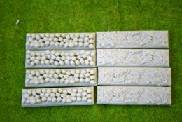 20mm x 80mm INFANTRY Resin Bases SKULLS and BONES pack of 8 for Fantasy of Sci-Fi RPG games