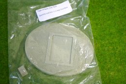 120mm x 90mm OVAL Resin Base City Tech for Fantasy of Sci-Fi RPG games