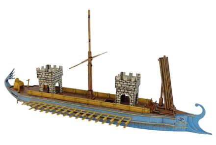 ROMAN FIGHTING SHIP WITH CORVUS T085 (28MM) Sarissa Precision
