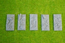 25mm x 50mm Resin Bases JUNGLE pack of 5 for Fantasy of Sci-Fi RPG games