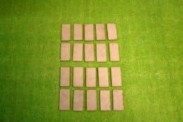 30mm x 60mm LASER CUT MDF 2mm Wooden Bases for Wargames