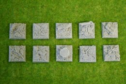 25mm square Resin Bases JUNGLE pack of 10 for Fantasy of Sci-Fi RPG games