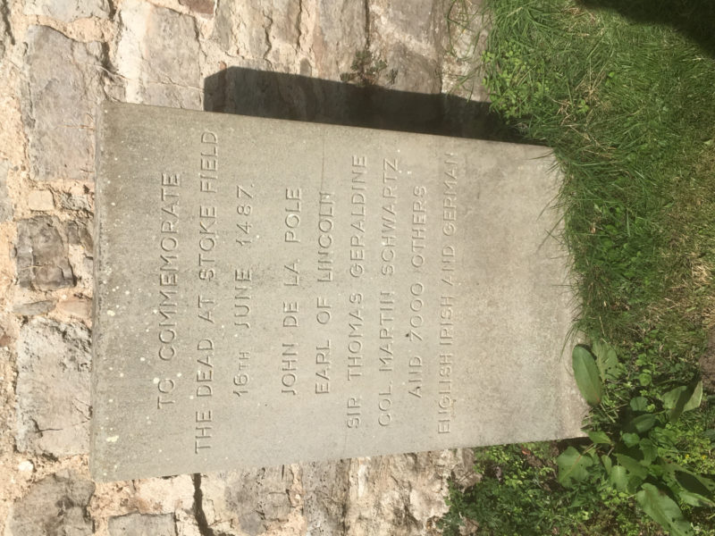 Memorial at East Stoke Church