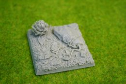 50mm squrae Resin Bases JUNGLE base for Fantasy of Sci-Fi RPG games